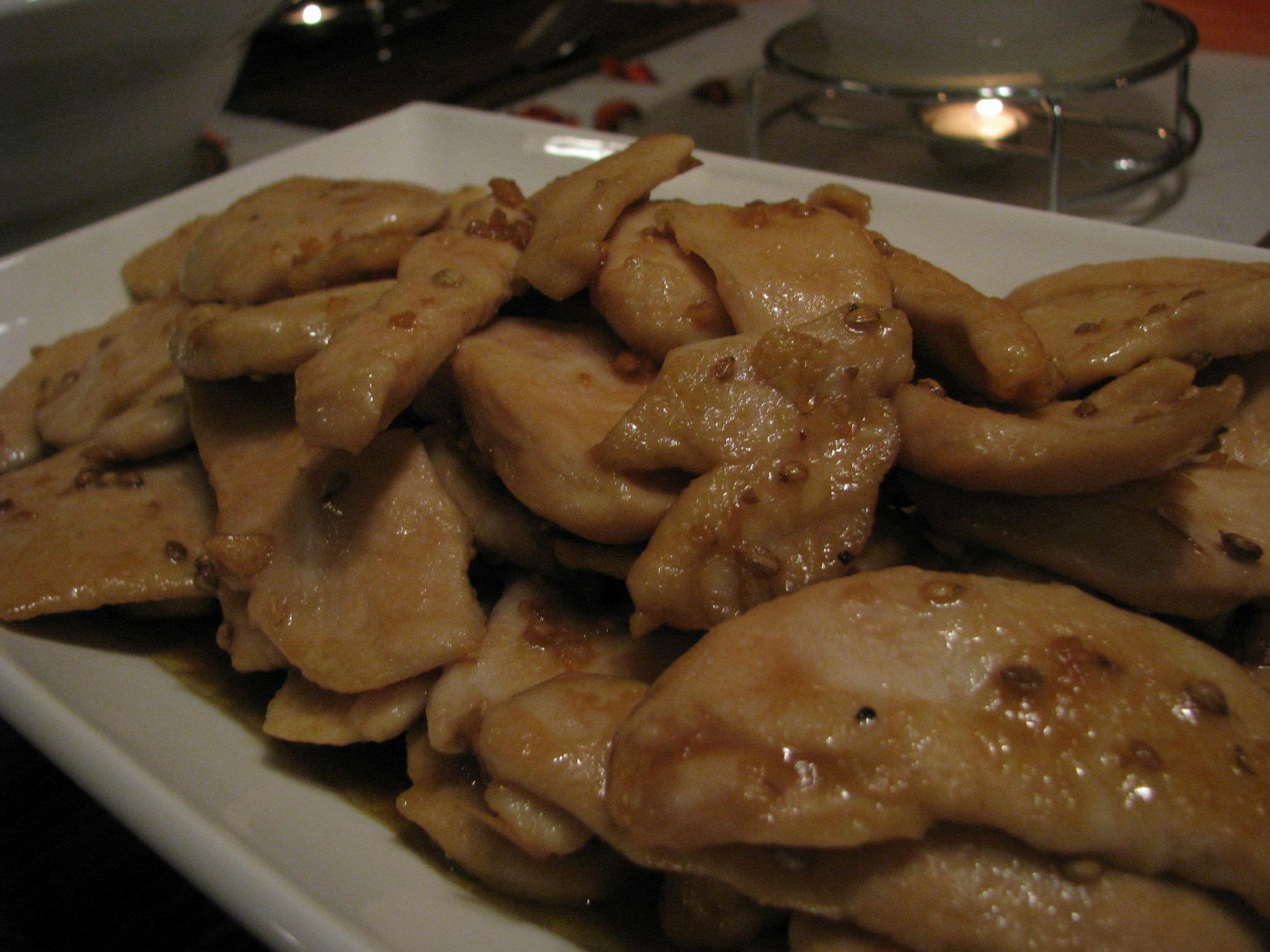 אסקלופ עוף ברוטב אסייתי