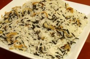 אורז בסמטי ובר עם בצל מטוגן | קייטרינג פלפלונים